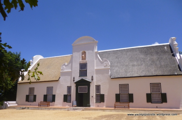 Typical building at Groot Constantia from where even Napoleon ordered wine