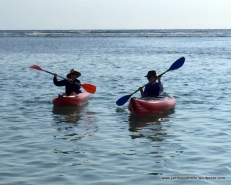 New recreation - kayaking in the lagoon with Anne-Marie