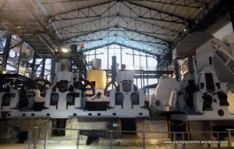 Interior - tour built around disused machinery
