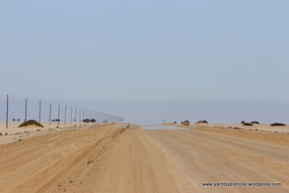 """""""On the first day of the journey"""" .... desert road complete with mirage"""