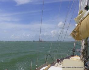 Land ahoy - silos off Cabedelo