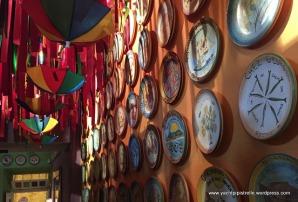Display of commemorative plates