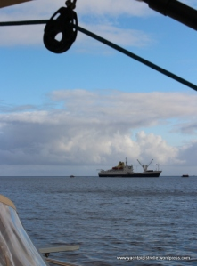 RMS St Helena at anchor