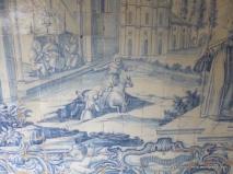 Interesting detail from tile fresco