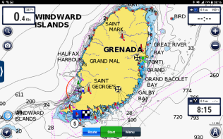 Nearing Grenada