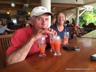 Enjoying a rum punch or three