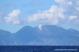 Smouldering Montserrat close up