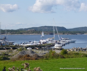 The small marina - popular at weekends