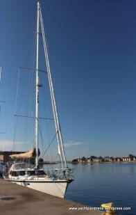 Blue sky arrival in Sonderborg!