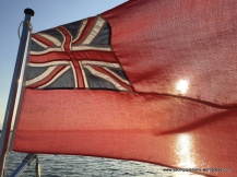 At anchor and feeling patriotic on 19th May!
