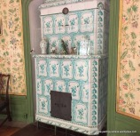 One of many tiled stoves