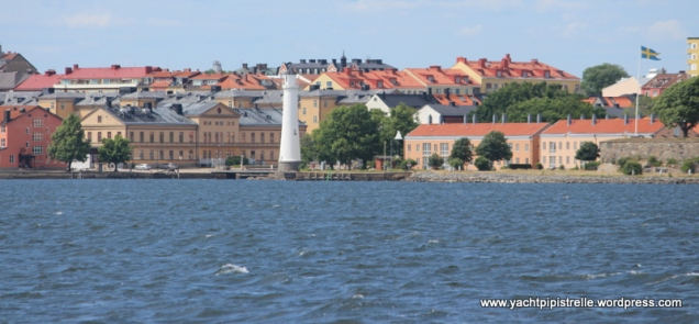Karlskrona from the sea