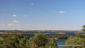 View from windmill over archipelago towards Stockholm