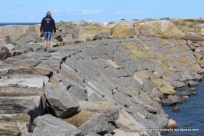 Granite harbour wall