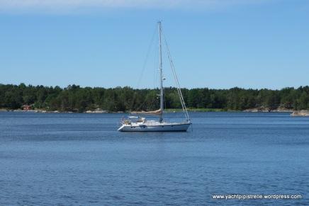 At anchor at Ladnaon