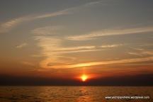 On passage sunset