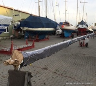 Mast wrapped - spreaders removed