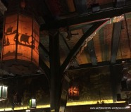 Old beams and lanterns