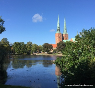 Marienkirche and River Trave
