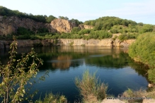 Disused granite quarry now used for sporting activities