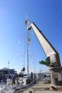 Mast nearly ready to lift