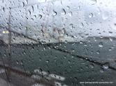 Lashing rain