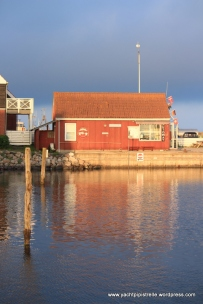 Evening light on harbour master's office