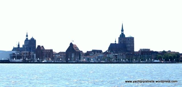 Off Stralsund marina - impressive skyline
