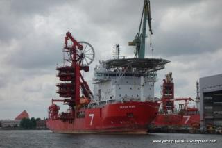 Ships undergoing maintenance